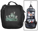 Michigan State Toiletry Bag or Michigan State Peace Frogs Shaving Kit Travel Organizer for Men
