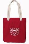 Missouri State Tote Bag RICH COTTON CANVAS Red