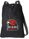 Miami University Redhawks Cotton Drawstring Bag Backpacks