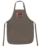 Official Miami RedHawks Logo Apron Tan