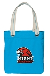 Miami University Redhawks Tote Bag RICH COTTON CANVAS Turquoise