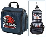 Miami RedHawks Hanging Travel Toiletry Bag or Miami University Shaving Kit Organizer for Him Navy