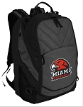 Miami University Redhawks Deluxe Laptop Backpack Black