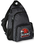 Miami University Redhawks Backpack Cross Body Style Gray