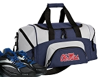SMALL Ole Miss Gym Bag University of Mississippi Duffle Navy