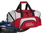 SMALL Ole Miss Gym Bag University of Mississippi Duffle Red