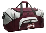 Large Mississippi State University Duffle Bag Maroon