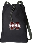 Mississippi Stat Cotton Drawstring Bag Backpacks