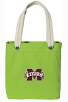 Mississippi State Tote Bag RICH COTTON CANVAS Green
