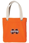 Mississippi State Tote Bag RICH COTTON CANVAS Orange