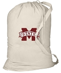 Mississippi State Laundry Bag Natural