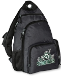 Michigan State Peace Frog Backpack Cross Body Style Gray