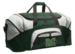 Large Marshall University Duffle Bag Green