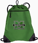 Marshall University Drawstring Backpack Mesh and Microfiber