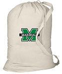 Marshall University Laundry Bag Natural