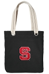 NC State Tote Bag RICH COTTON CANVAS Black