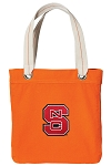 NC State Tote Bag RICH COTTON CANVAS Orange