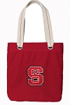 NC State Tote Bag RICH COTTON CANVAS Red