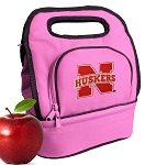 Nebraska Huskers Lunch Bag Pink