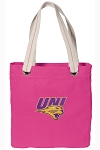 Northern Iowa Tote Bag RICH COTTON CANVAS Pink