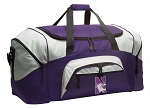 LARGE Northwestern University Duffle Bags & Gym Bags