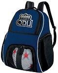Old Dominion University Soccer Ball Backpack or ODU Volleyball Practice Gear Bag Navy