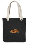 Oklahoma State Tote Bag RICH COTTON CANVAS Black