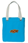 Oklahoma State Cowboys Tote Bag RICH COTTON CANVAS Turquoise