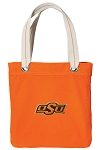 Oklahoma State Cowboys Tote Bag RICH COTTON CANVAS Orange