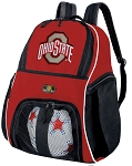 OSU Buckeyes Soccer Backpack or Ohio State University Volleyball Practice Bag Red Boys or Girls
