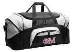 Phi Mu Duffel Bags or Phi Mu Sorority Gym Bags For Men or Women