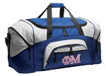 Phi Mu Duffle Bag or Phi Mu Sorority Gym Bags Blue