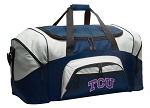 Large Texas Christian University Duffle TCU Duffel Bags