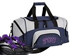SMALL Texas Christian University Gym Bag TCU Duffle Navy