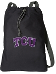 TCU Texas Christian Cotton Drawstring Bag Backpacks