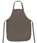 Official TCU Logo Apron Tan