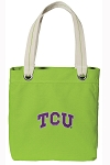 TCU Tote Bag RICH COTTON CANVAS Green