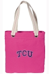 TCU Tote Bag RICH COTTON CANVAS Pink