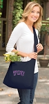TCU Texas Christian Tote Bag Sling Style Navy