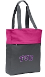 TCU Tote Bag Everyday Carryall Pink