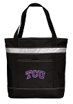 TCU Texas Christian Insulated Tote Bag Black