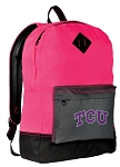 TCU Backpack HI VISIBILITY Texas Christian University CLASSIC STYLE For Her Girls Women