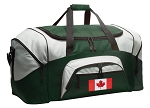 Large Canada Flag Duffle Bag Green