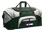Large Colorado Flag Duffle Bag Green