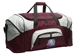 Large Field Hockey Duffle Bag Maroon