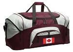 Large Canada Flag Duffle Bag Maroon