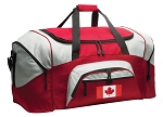 Canada Duffle Bag or Canada Flag Gym Bags Red
