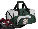 SMALL Baseball Gym Bag Baseball Fan Duffle Green