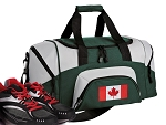 SMALL Canada Flag Gym Bag Canada Duffle Green