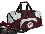 SMALL Baseball Gym Bag Baseball Fan Duffle Maroon